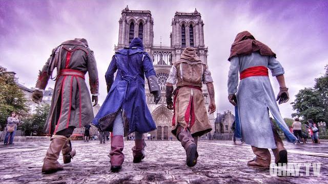 Biểu diễn Parkour theo phong cách Assassin's Creed Unity