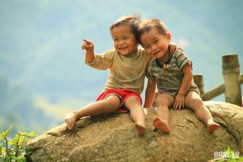 Nụ cười hồn nhiên của những đứa trẻ vùng cao