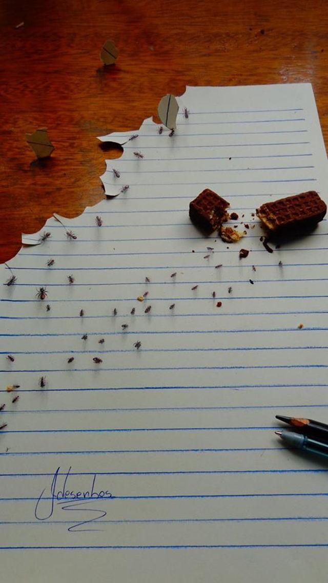 Mẫu bánh vụn và bầy kiến