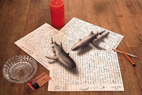 Đôi cá mập trông như đồ chơi mô hình