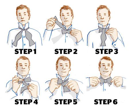 Cách thắt nơ cổ áo