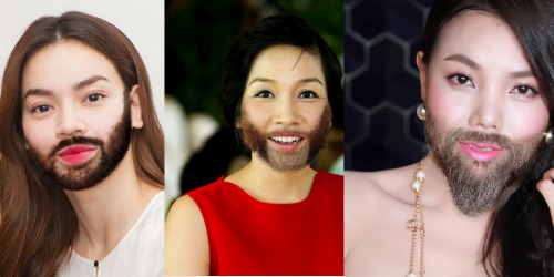 Khi mỹ nhân Việt để râu quai nón thì sẽ như thế nào?
