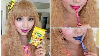 Cách làm son môi bằng bút sáp màu