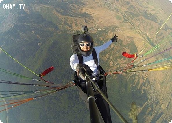 Selfie thể thao mạo hiểm