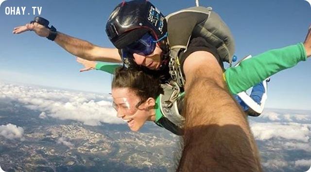 selfie trên không