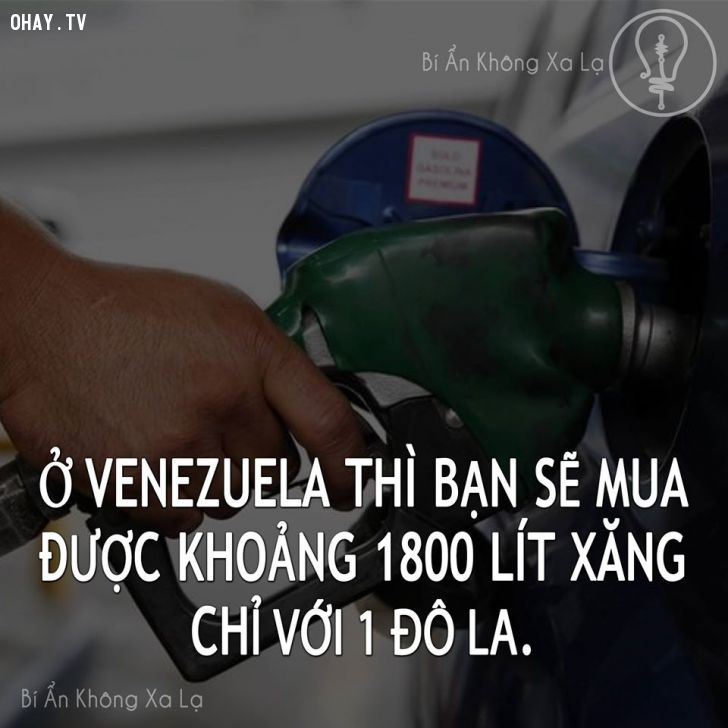 ảnh Venezuela,giá xăng rẻ nhất thế giới,mua xăng ở venezuela,xăng rẻ hơn nước lã