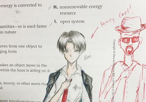 """Thầy giáo hoàn thành những hình \""""vẽ bậy\"""" trên sách của học sinh"""