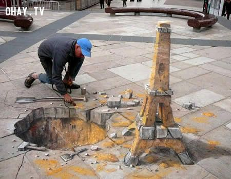 ảnh hình 3d,nghệ thuật đường phố,vẽ 3d