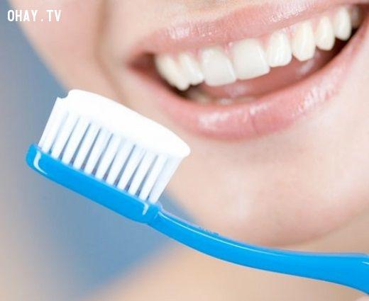 không nên đánh răng sau khi ngủ dậy
