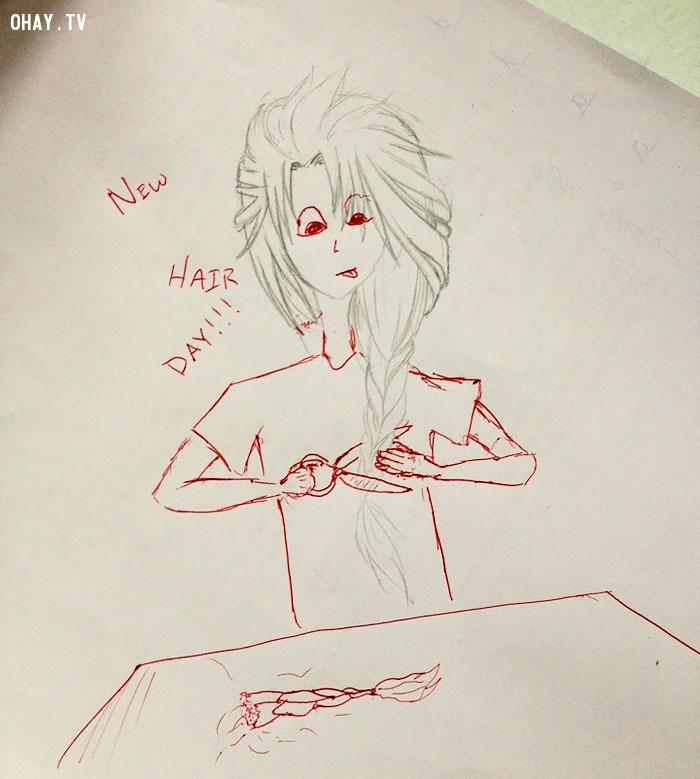 Học sinh vẽ bậy lên sách