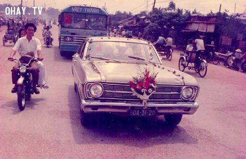 Hình ảnh lễ đón dâu ở Sài Gòn.