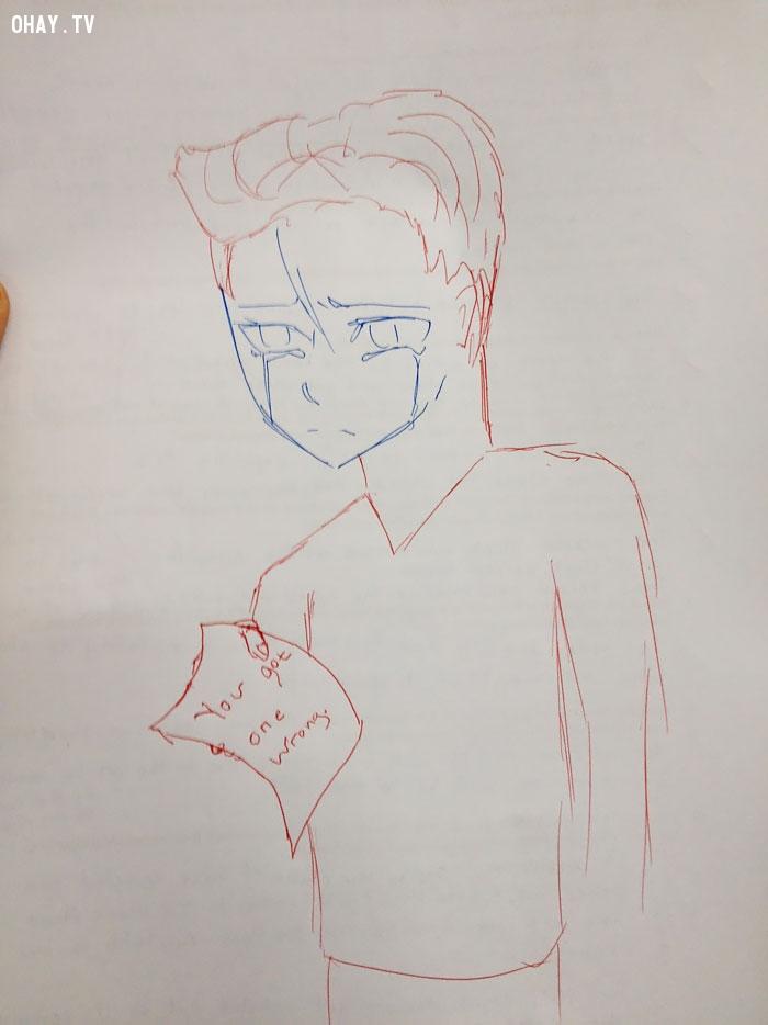 học sinh vẽ bậy