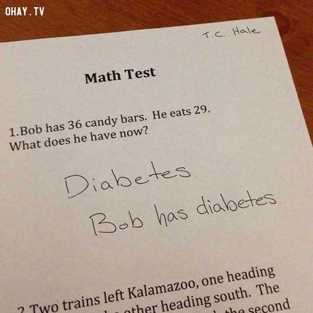 ảnh bài kiểm tra,bá đạo,học sinh,kiểm tra,toán học