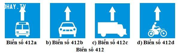 ảnh luật giao thông,biển 412,đi sai làn,quy định về làn đường