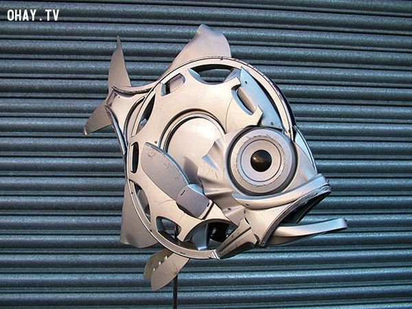 ảnh Ptolemy Elrington,hubcaps,tái chế,vật liệu tái chế,sống xanh,sáng tạo