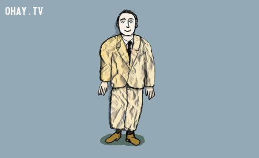 Quần áo nhăn nhúm