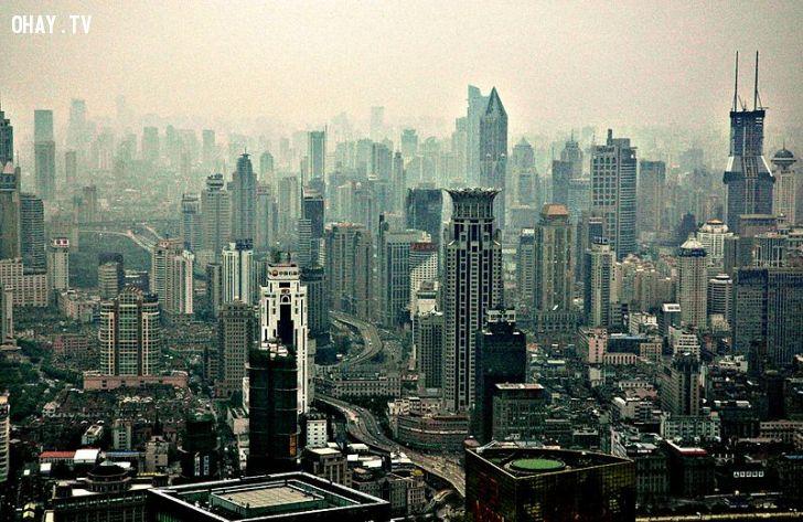 ảnh Trung Quốc,ô nhiễm,đông dân,phát triển