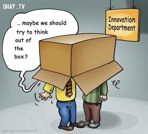 ảnh think out of the box,tư duy vượt giới hạn,tư duy sáng tạo,sáng tạo,cách để sáng tạo