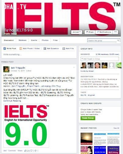 Nhóm học IELTS trên Facebook