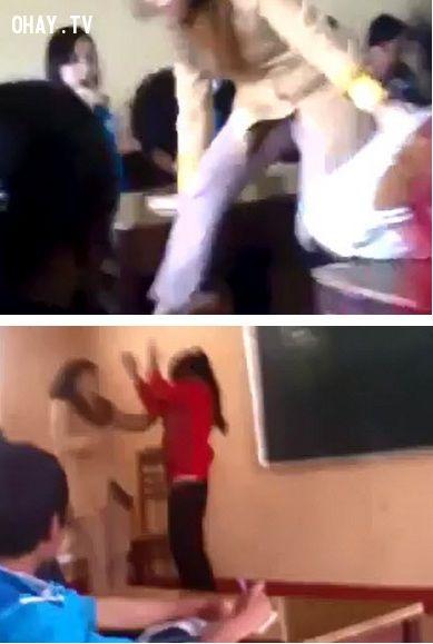 ảnh cô giáo đánh học sinh,bạo lực học đường,học sinh