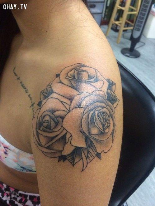 Simple rose tattoos