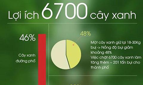 [ Infographic ] 6700 cây xanh có lợi như thế nào?