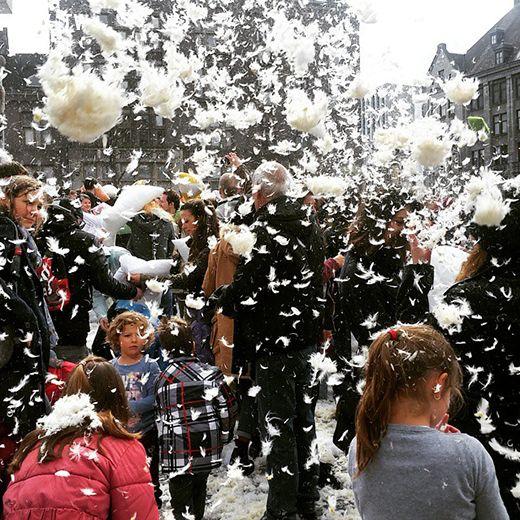 ảnh đập gối,lễ hội đập gối,lễ hội,International Pillow Fight Day