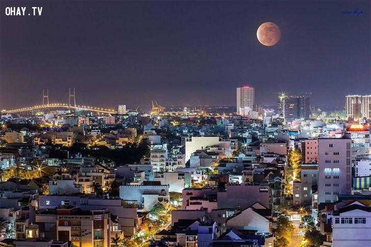ảnh mặt trăng,trăng máu,nguyệt thực toàn phần,hình ảnh,nhiếp ảnh,ảnh đẹp