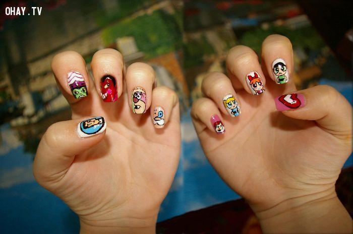 ảnh mẫu nail,mẫu móng tay,nail,sơn móng tay,vẽ móng,làm đẹp