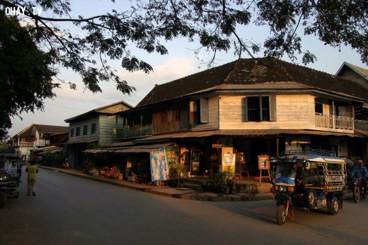 Một góc phố yên bình tại Luang Prabang (nguồn: Panoramio)