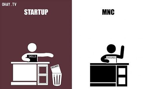 Công ty khởi nghiệp (Startup) và công ty đa quốc gia (MNC) có gì khác?