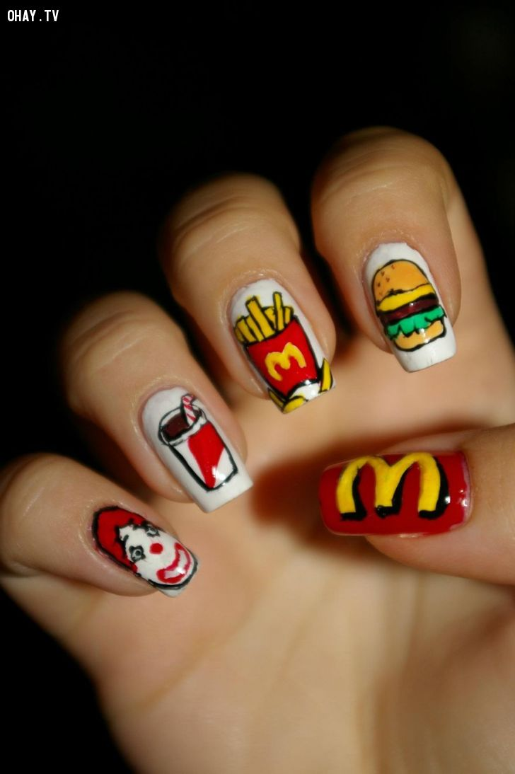Những mẫu nail tuyệt đẹp lấy ý tưởng từ các nhân vật hoạt hình ...