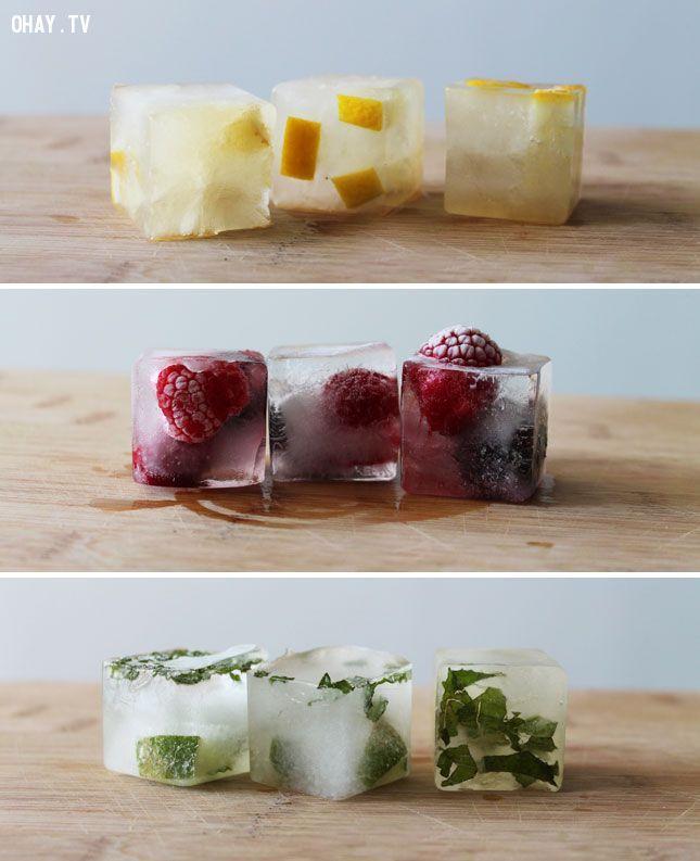 ảnh khay đá tủ lạnh,thức ăn,sáng tạo,mẹo vặt,mẹo hay với khay đá,mẹo hay