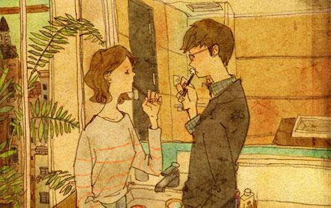 Bộ tranh đáng yêu siêu cấp: 27 khoảnh khắc chỉ có trong tình yêu đích thực