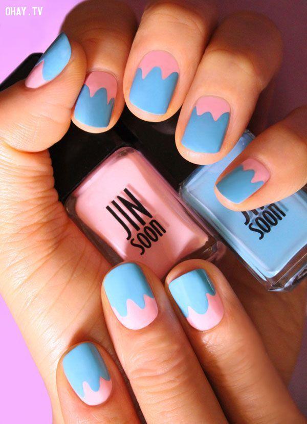 ảnh móng tay,sơn móng tay,mẫu nails đẹp,mẫu sơn móng tay đẹp,làm nails,hướng dẫn làm móng