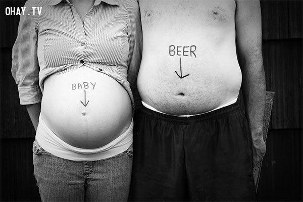 ảnh báo tin có thai,báo tin có bầu,có bầu,chuyện vợ chồng