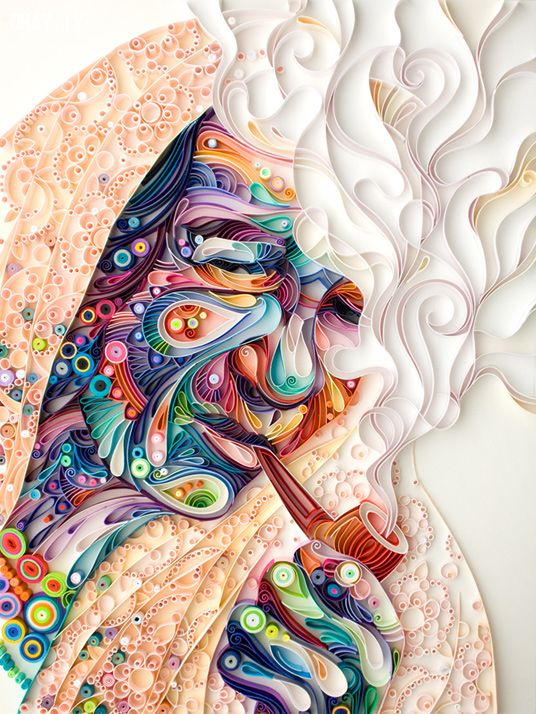 ảnh Nghệ thuật,nghệ thuật cuốn giấy,quilling,sáng tạo
