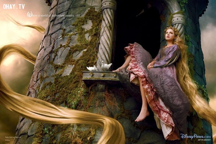 ảnh sáng tạo,disney,công chúa