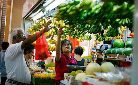 Sự nhộn nhịp của chợ ở Singapore