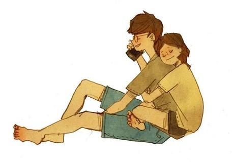 Bộ tranh tình yêu đơn giản đốn tim giới trẻ