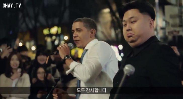 ảnh obama và kim jong un,nhạc chế