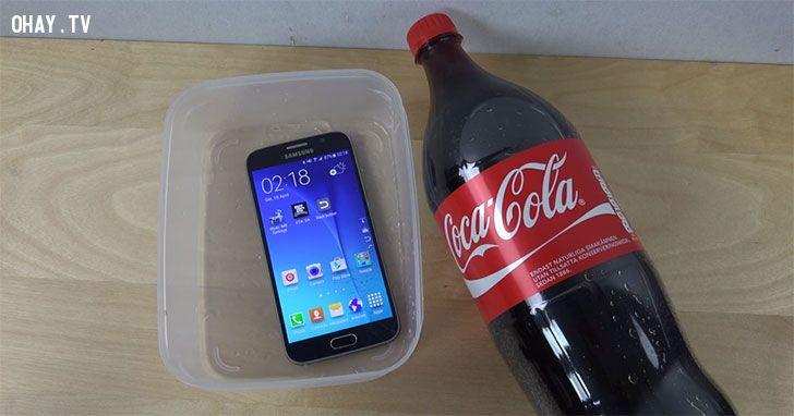 ảnh Samsung Galaxy S6,Coca Cola,cocacola,cho s6 vào cocacola