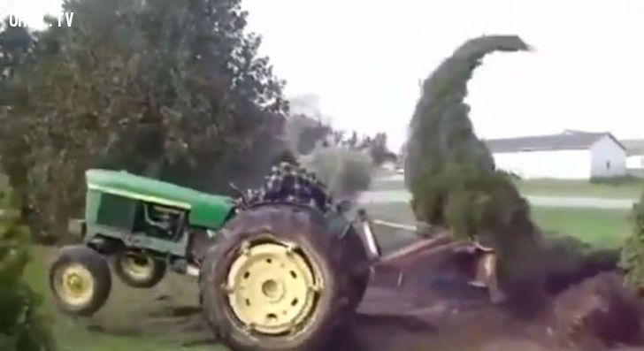 ảnh video hài,video funny,hài hước,máy nhổ cây