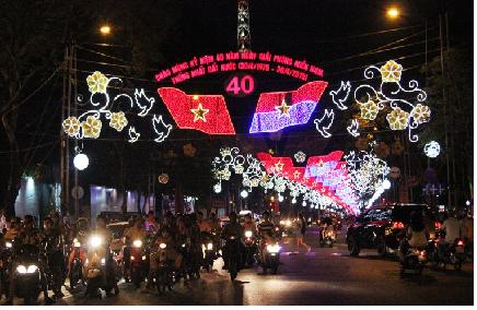 TP. Hồ Chí Minh rực sáng cờ hoa chào mừng kỷ niệm 40 năm ngày giải phóng