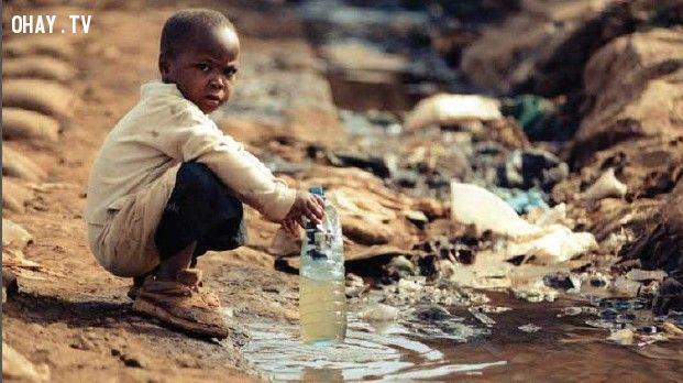 ảnh ô nhiễm nước,thiếu nước sạch,ô nhiễm môi trường,bảo vệ nguồn nước,bảo vệ hành tinh xanh