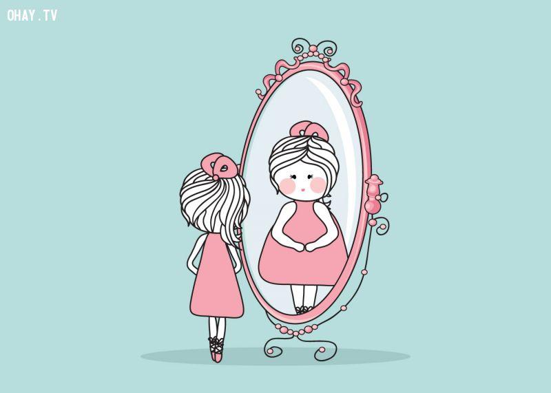 ảnh con gái,suy nghĩ,đọc ý nghĩ,lời nói,hành động,suy nghĩ con gái