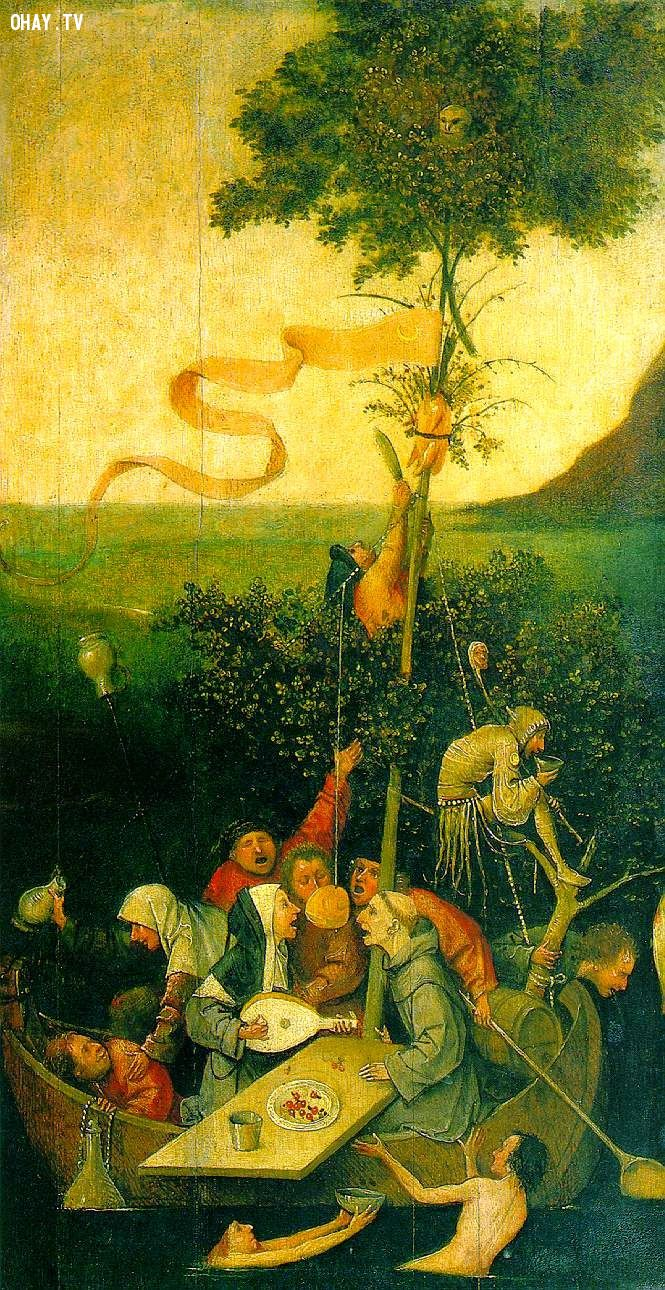 The Ship of fools Hieronymous Bosch 1500