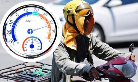 [Sốc] Nhiệt độ mặt đường Hà Nội gần 60 độ C, nhiệt độ yên xe hơn 80 độ C