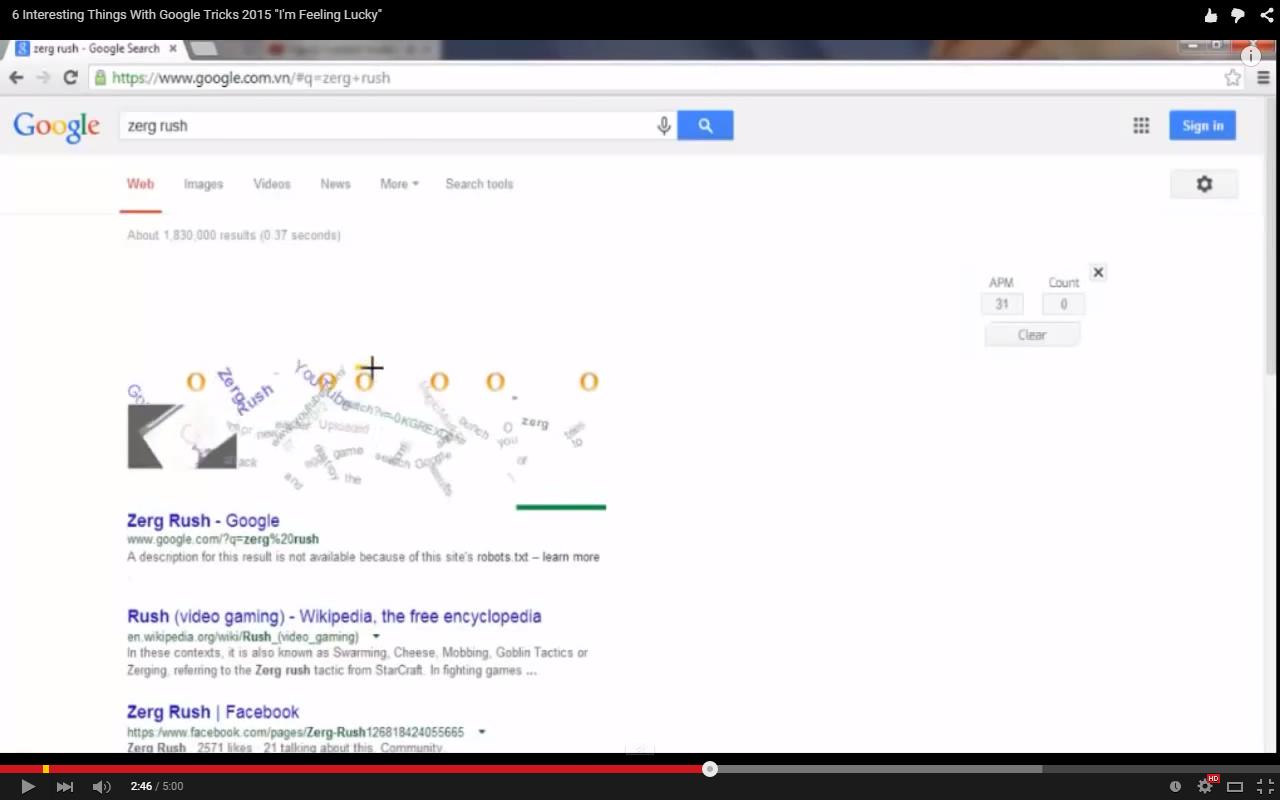 ảnh google tricks,thủ thuật google,google