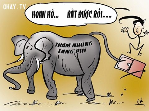 Tranh biếm VACI – MEC: 'Xử lý tham nhũng: Chớ để đầu voi đuôi chuột'